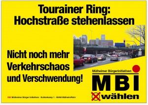 Plakat-Verkehrschaos