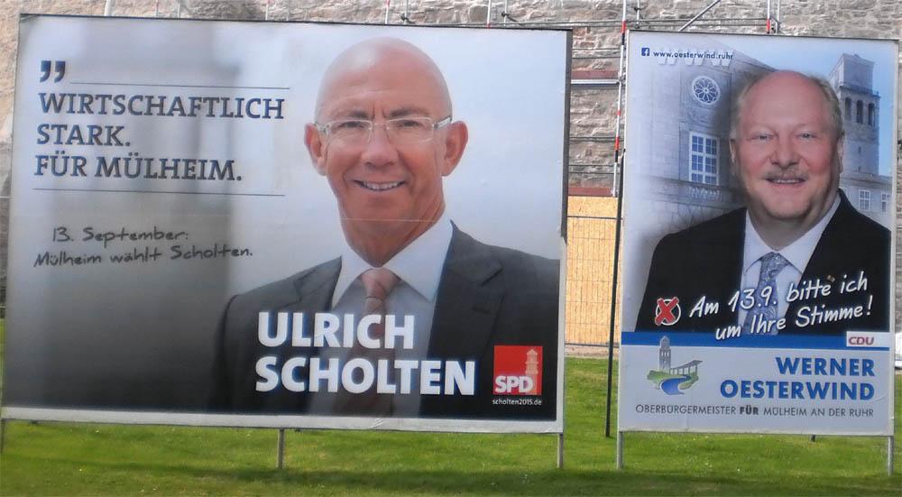 Mülheimer OB-Wahlkampf 2015 bisher erschreckend hohl