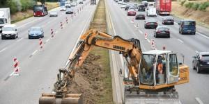 Autobahn-Baustelle