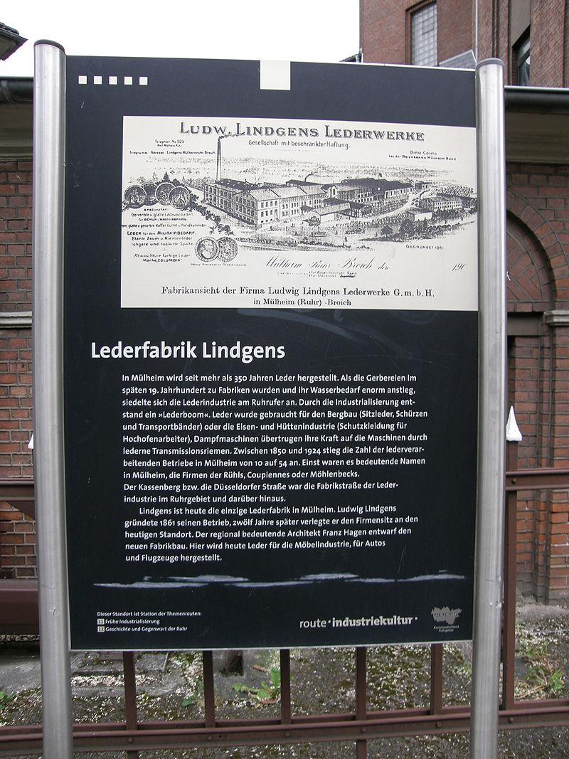 Lindgens-Hinweisschild