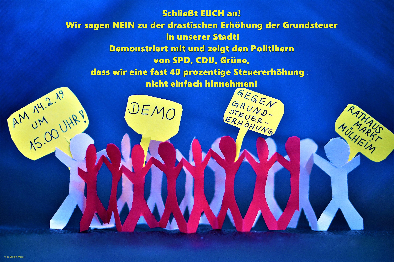 AufRuhr-Demo am 14. Februar gegen die Grundsteuererhöhung